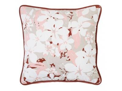 Διακοσμητικό Μαξιλάρι Με Λουλούδια  Υφασμάτινα