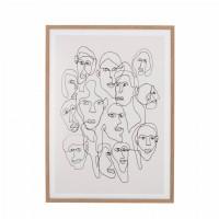 Πίνακας Με Πρόσωπα Και Κορνίζα Από Φυσικό Ξύλο Διακοσμητικά Αξεσουάρ