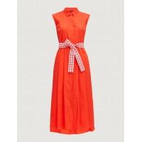 Shirt Dress Red Φορέματα