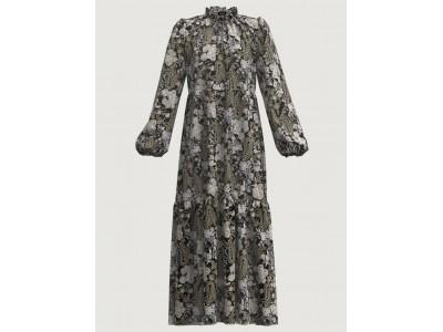 Patterned Dress Black Φορέματα