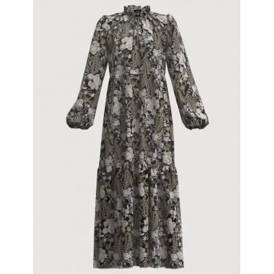 Patterned Dress Black