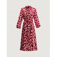 Patterned dress Red Φορέματα