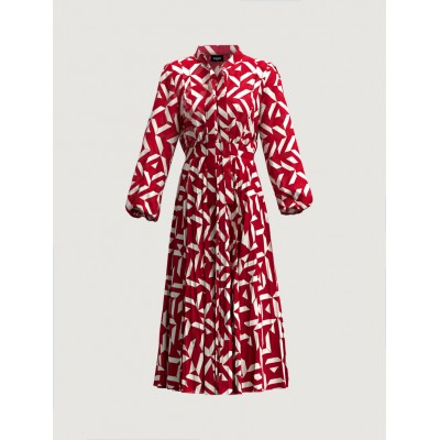 Patterned dress Red