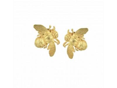 Bee Metal Clip Earrings Κοσμήματα