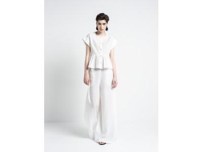 Cotton Diagram Shirt White Πουκάμισα