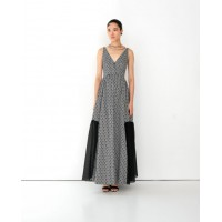 Mythology Motif – V-Neck Maxi Dress Φορέματα