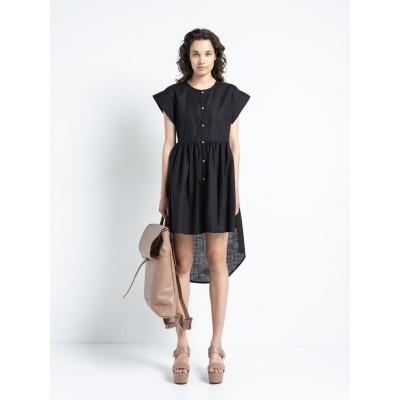 Cotton Diagram - Shirt Dress Black