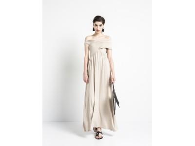 Cross Across – Maxi Dress Beige Melange Φορέματα
