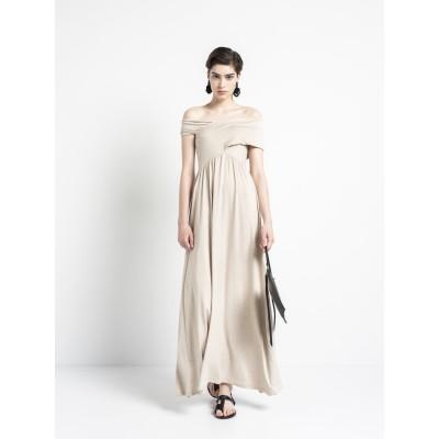 Cross Across – Maxi Dress Beige Melange