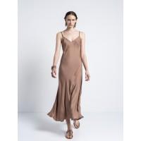 Gentle Fluidity Negligee Dress Vivid Clay Φορέματα