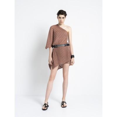 Archetypes - One-Shoulder Dress Vivid Clay