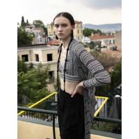 Wrap Cardigan 2550 Black – Gardenia Stripes Ζακέτες
