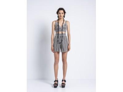 Cycladic Essence - Shorts Black With Cardenian Stripes Παντελόνια/Σορτς
