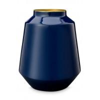 Μεταλλικό Βάζο Μπλε 24x29cm Βάζα