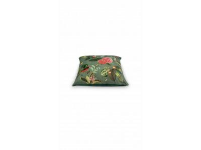 Διακοσμητικό Μαξιλάρι Λουλούδια Πράσινο 60x60 Υπνοδωμάτιο