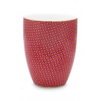 Πορσελάνινο Ποτήρι Αστέρια Ροζ 300ml Μπάνιο
