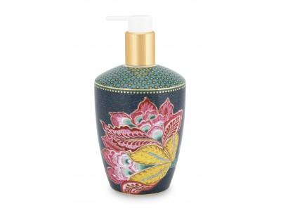 Πορσελάνινη Αντλία Κρεμοσάπουνου Λουλούδια Μπλε 440ml Μπάνιο