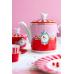 Πορσελάνινη Τσαγιέρα Love Birds Κόκκινη-Ροζ 1.2ltr Σερβίτσια