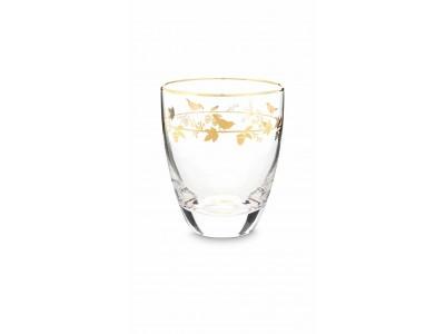 Γυάλινο Ποτήρι Νερού Winter Wonderland Gold 360ml Υαλικά