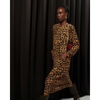 Boxy Dress Leopard Φορέματα
