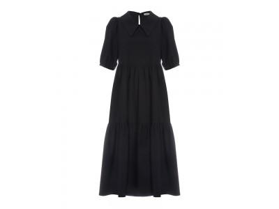 Cotton Dress Black Φορέματα