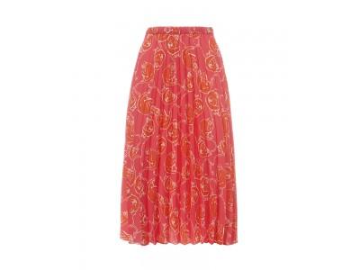 Printed Pleated Skirt Monkeys Fuchsia Φούστες