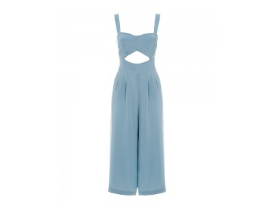 Jumpsuit With A Cut-Out Detail Baby Blue Φόρμες