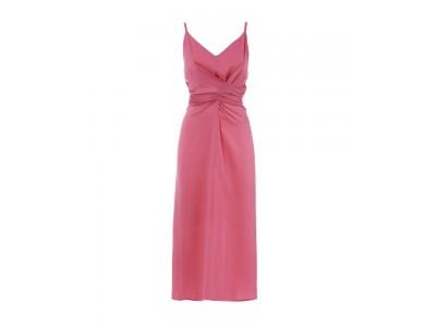 Wrap Slip Dress Fuchsia  Φορέματα