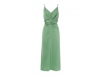 Wrap Slip Dress Green Φορέματα