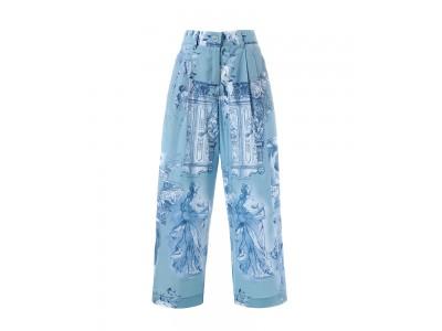 Printed Wide Cropped Pants Παντελόνια/Σορτς