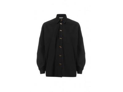 Oversized Shirt Black Πουκάμισα