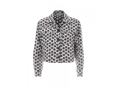 Daisy Jacket Black And White Floral Πανωφόρια