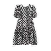 Daisy Dress Black And White Floral Φορέματα