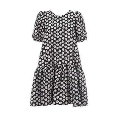 Daisy Dress Black And White Floral