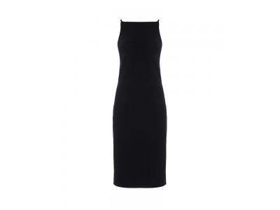 Midi Dress Black Φορέματα
