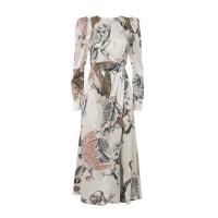 Printed Dress With Side Vent Φορέματα