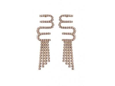 Crystal Drop Logo Earrings Κοσμήματα