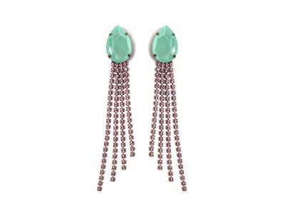 Crystal Drop Earrings Aqua Κοσμήματα