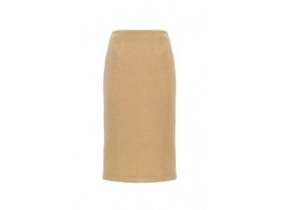 Knit Pencil Skirt Yellow Φούστες