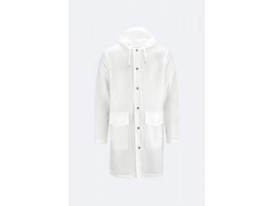 Transparent Hooded Coat Foggy White Πανωφόρια