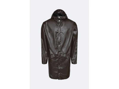 Long Jacket Shiny Brown Πανωφόρια