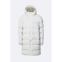 Long Puffer Jacket Off White Πανωφόρια